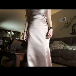 After Six Dresses - After Six Bridesmaid Prom Dress Gold Long